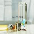 最畅销的产品500ml高硼硅双层玻璃杯带硅胶套 4