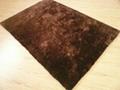 Hand Made 100% Polyester Shaggy Flexible Yarn Mixed Silk Carpet  3