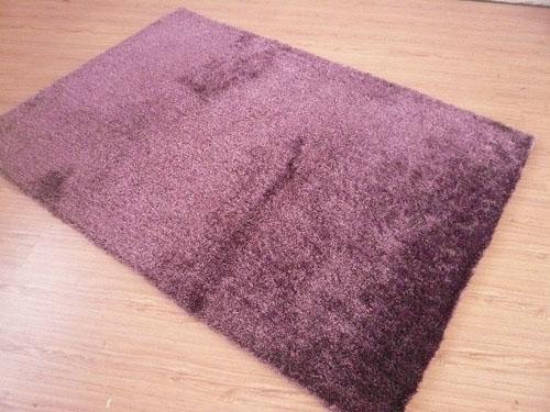 Hand Made 100% Polyester Shaggy Flexible Yarn Mixed Silk Carpet  4