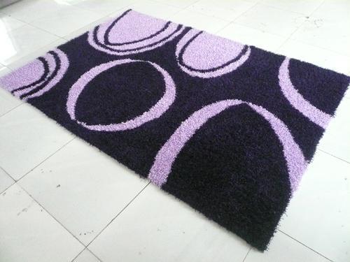 Hand Made 100% Polyester Shaggy Flexible Yarn Mixed Silk Carpet  2