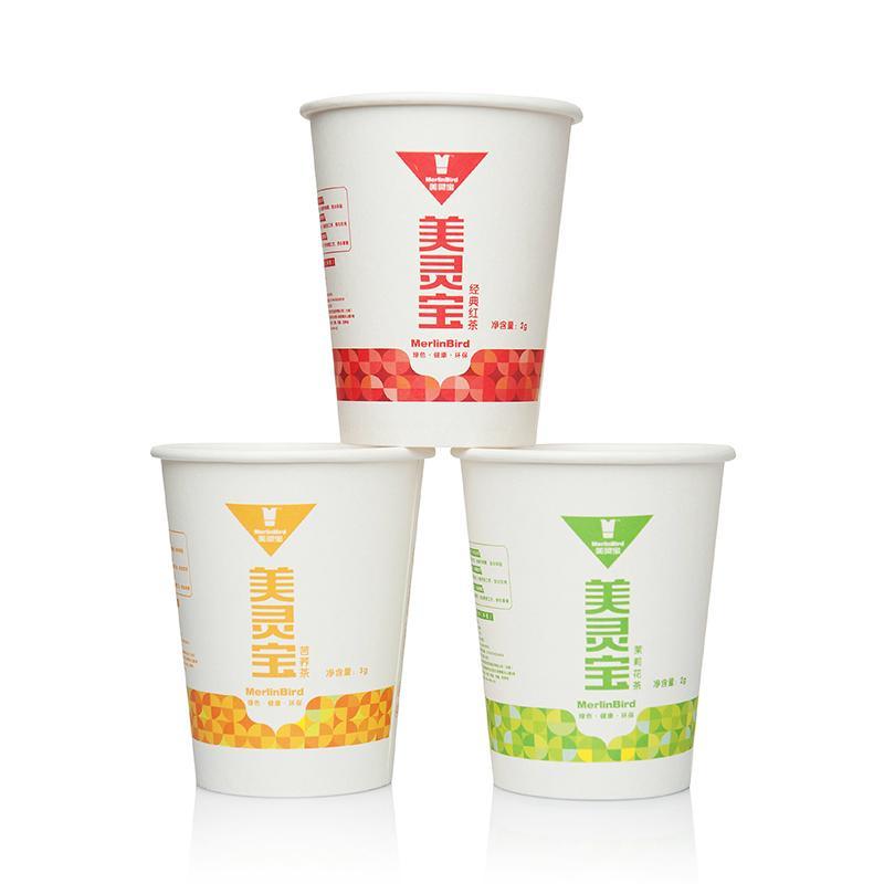 Merlin Bird Disposable Tea Cup Tea  1