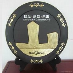 周年庆典纪念炭雕摆件