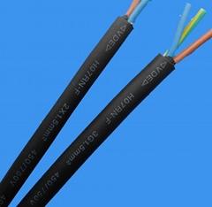 防水橡胶线H07RN-F绝缘橡套软电缆