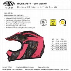 child full face helmet dot certificated 601