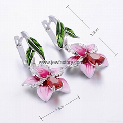 Jewelry Manufacturer Simulation 3D Earrings Inlaid With Gems Christmas Present