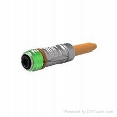 新能源金属高压连接器单芯直头10mm推拉式插头