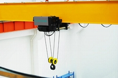 Clescrane single overhead crane with electric hoist for steel lifting