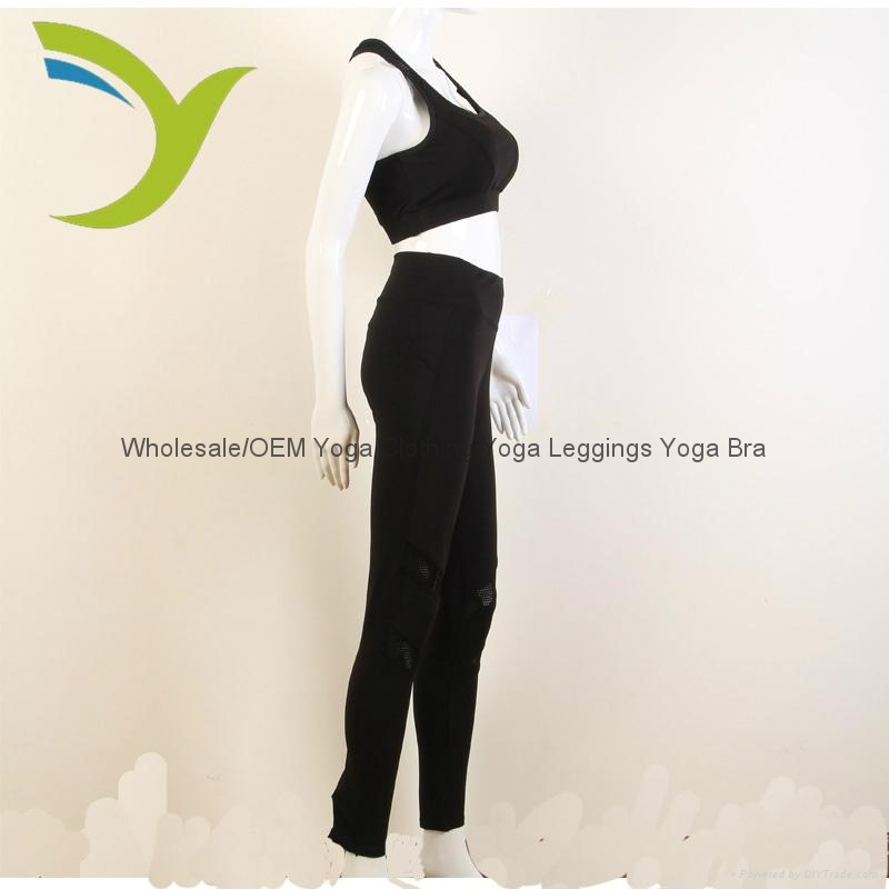 Wholesale Women's black bra yoga bra yoga pants 1