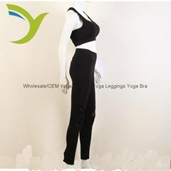 女款黑色文胸 瑜伽文胸 瑜伽緊身褲套裝