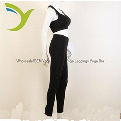 Wholesale Women's black bra yoga bra yoga pants