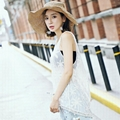 Lace embroidery blouse wild sleeveless