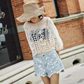 Lace Wide Sleeve Beach Sexy Hollow Lace