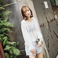 Lace Blouse Long Sleeve Lace Wild Perspective Fall Watercolor Lace Wild Lady Top 4