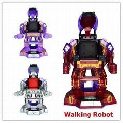 kids robot toys shopping mall walking robot kiddie rides for sale