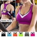 Wholesale OEM ODM seamless padded push up sports bra