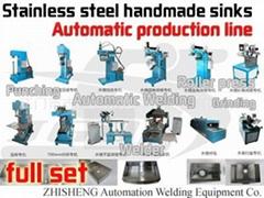 不鏽鋼手工水槽全套自動化生產設備生產工藝流程