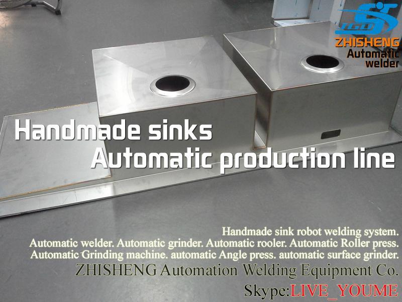 Handmade sink polishing machine