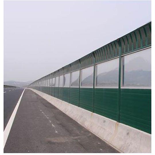 Transparent PMMA sound barriers 1