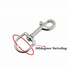 Stainless Steel Oval Single Bull Snap Hook
