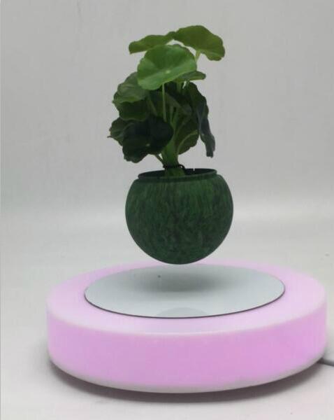 led light magnetic floating levitating air bonsai pot planter tree 0-500g 4