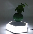led light  magnetic flying levitation floating air bonsai pots with led light 3
