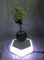 led light  magnetic flying levitation floating air bonsai pots with led light 5