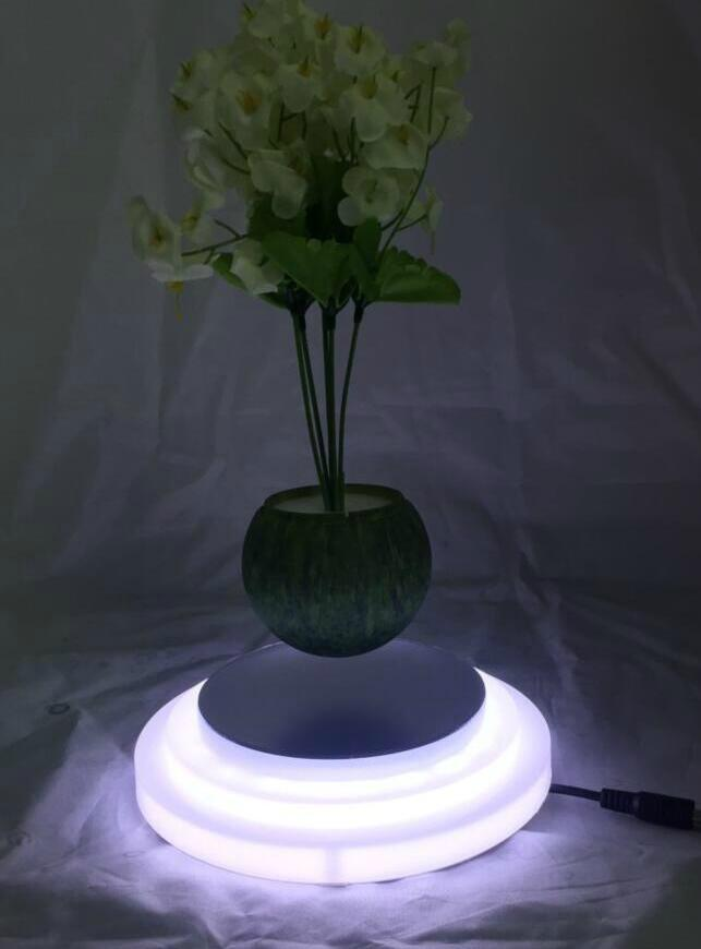 magnetic floating plant display stand with led light 0-300g 1