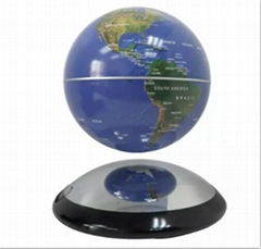 6 inch metal ufo base electronic magnetic  levitation world globe