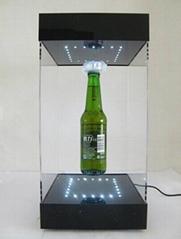 magnetic floating rotating bottle