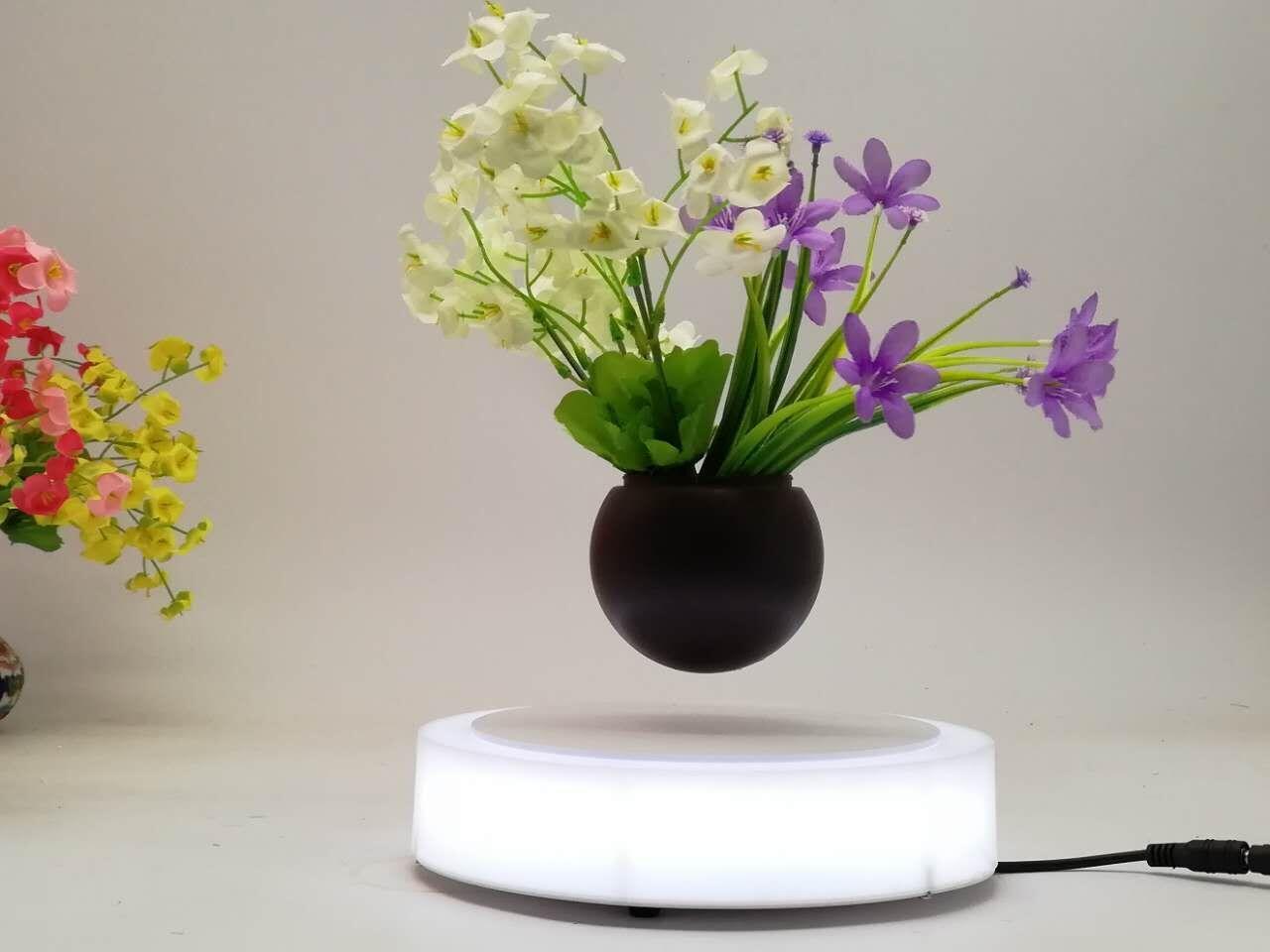 led light magnetic floating levitating air bonsai pot planter tree 0-500g 1