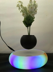 led light ceramic magnetic floating levitating air bonsai floating 0-500g