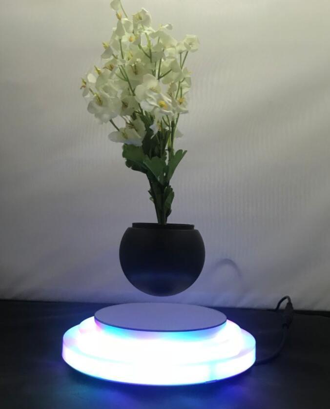 rotating hexagon magnetic floating levitate air bonsai pot planter for gift  1
