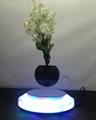 rotating hexagon magnetic floating levitate air bonsai pot planter for gift