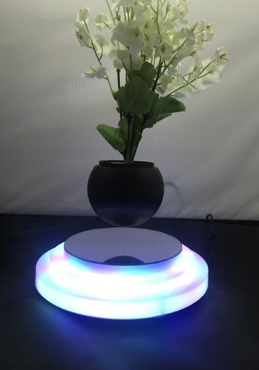 rotating hexagon magnetic floating levitate air bonsai pot planter for gift  3