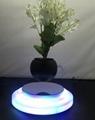 rotating hexagon magnetic floating levitate air bonsai pot planter for gift  4