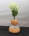 new wooden magnetic floating levitating air pot bonsai for christmas gift  1