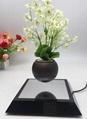 new square base magnetic floating levitating air bonsai tree flowerpot plant