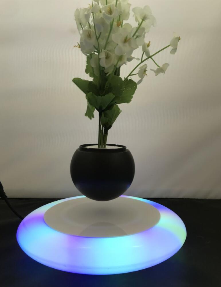 mirror base hexagon  magnetic floating levitating flying pot air bonsai  3