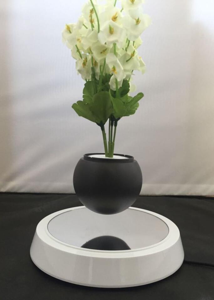 mirror base hexagon  magnetic floating levitating flying pot air bonsai  5