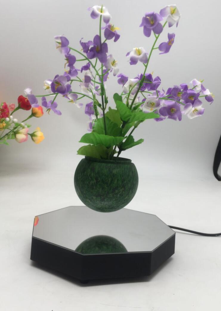 mirror base hexagon  magnetic floating levitating flying pot air bonsai  1