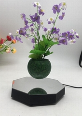 mirror base hexagon  magnetic floating levitating flying pot air bonsai