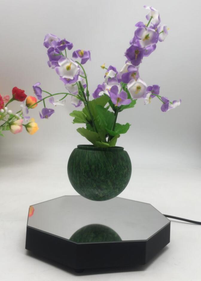 mirror base hexagon  magnetic floating levitating flying pot air bonsai  2