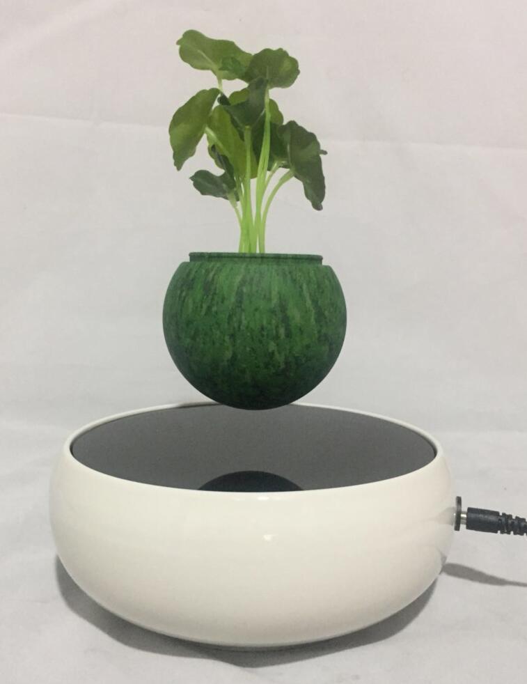 360 rotating ceramic magnetic floating levitate air bonsai pot  4