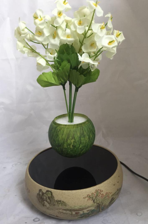 360 rotating ceramic magnetic floating levitate air bonsai pot  6