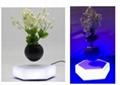 led light hexagon magnetic floating levitating air bonsai pot gift