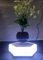 led light hexagon magnetic floating levitating air bonsai pot gift  2