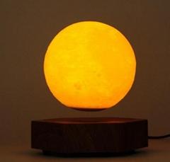 new hexagon base magnetic floating levitate bottom moon ball 5inch