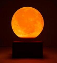 wireless magnetic floating levitate bottom moon ball lighting 6inch
