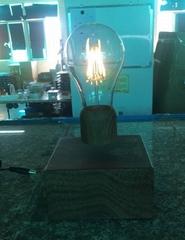 wireless magnetic floating levitate bottom led bulb lamp