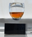 360 rotating square base wirless magnetic floating water cup